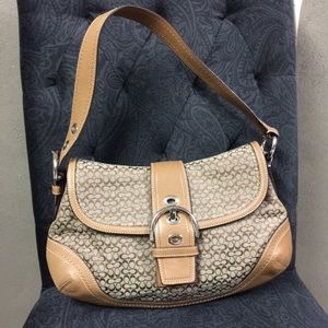 Coach Soho Signature Buckle Leather Hobo Purse Bag